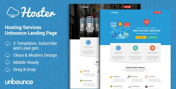 Hosting Services Landing Page