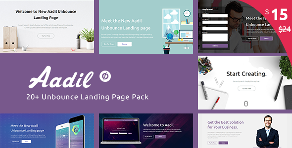 Multi-Purpose Template with Unbounce Page Builder