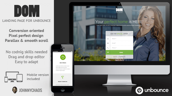 Real Estate Unbounce Landing Page