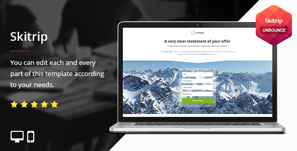 Skitrip - Unbounce Template