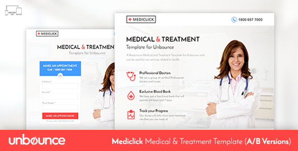 Unbounce Medical Landing Page Template