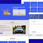 Car Rental Landing Page Elementor Template